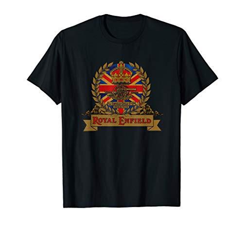 Weinlese königliches Enfield Motorrad Kamm T-Shirt