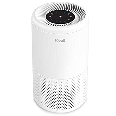 Levoit Air Purifier for Home Allergies, Smoker, Pets Hair, Dust, True HEPA Filter, Air Filter with Sleep Mode, Timer, Gentle Night Light, Display Off Function, Ozone Free, Quiet in Bedroom, Vista 200