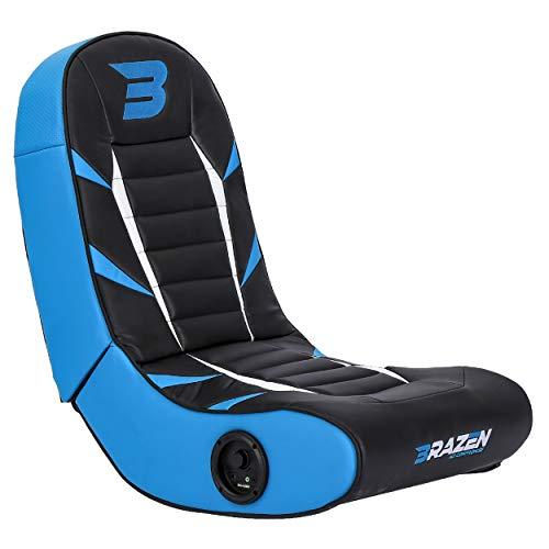 BraZen 18090 Python 2.0 Bluetooth Surround Sound Gaming Chair-Blue