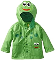 Western Chief Kids Soft Lined Character Rain Jackets, Fritz the Frog, 4T