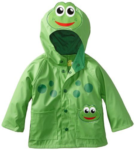 Western Chief Kids Soft Lined Character Rain Jackets, Fritz the Frog, 2T