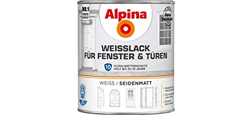Alpina Weißlack für Fenster & Türen seidenmatt 750 ml