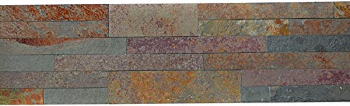 Lámina autoadhesiva para pared, pizarra natural, piedra roja, embellecedor de pared, dorado para pared de cocina, espejo para azulejos, revestimiento de teca, mosaico, placa de mosaico, 10 unidades