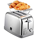 2 Slice Toaster with 7 Bread Shade Settings and Warming Rack, Toast Evenly and Quickly, Extra Wide...