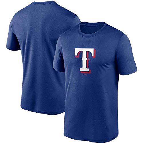 JMING Rangers Uniforme De Béisbol para Hombre, Camiseta para Fanáticos Uniforme De Entrenamiento De Béisbol De élite Chaqueta De Béisbol Retro Jersey De Manga Corta con Botones (A2,XXL)