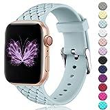 HUMENN Sport Bracelets Compatible avec Apple Watch 38mm 42mm 40mm 44mm, Bandes de Rechange pour Femmes, Motif en...