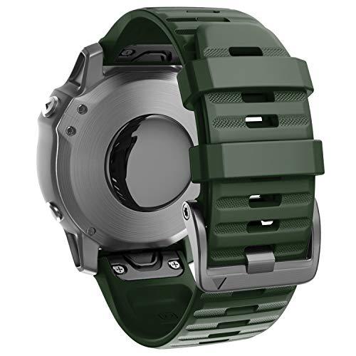 ANBEST Braccialetto in Silicone Compatibile con bracciali Fenix 6 con Chiusura a Vite, Cinturino di Ricambio a sgancio rapido da 22 mm per Fenix 5 Quatix 5 Forerunner 935 Smart Watch
