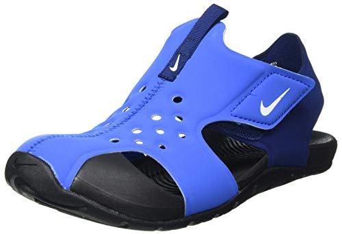 Nike Sunray Protect 2 (PS), Slide Sandal, Signal Blue/White-Blue Void-Black, 35 EU