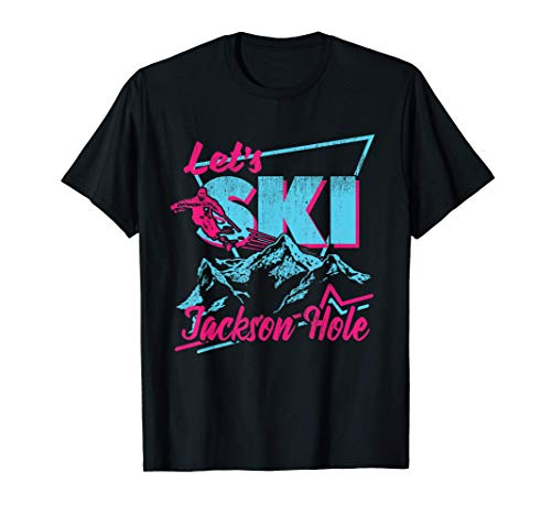 Retro Jackson Hole Ski T-Shirt - Vintage 80s Ski Outfit T-Shirt