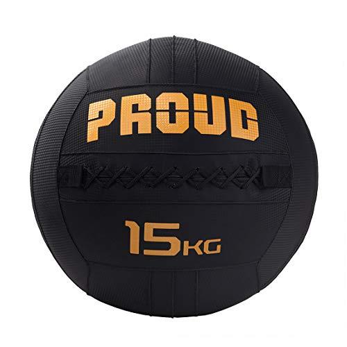 PROUD Medicine Ball Wall Ball Pilates Fitness balles Gym (de 3 à 15 kg - 35 cm de diamètre !!) (15)
