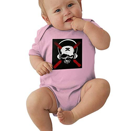 Johnson Hop Baby-Strampler mit Combichrist-Logo, kurzärmelig, rose, 12 m