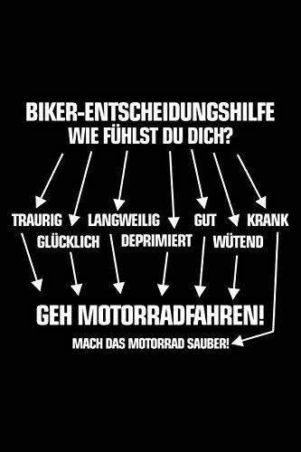 Biker-Entscheidungshilfe: Notizbuch / Notizheft für Motorradfahrer Motorrad-Fahren Biker-Girl A5 (6x9in) dotted Punktraster