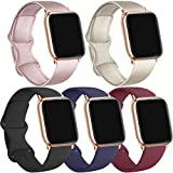 [5 Pack] Bands Compatible with Apple Watch Bands for Women Men, Bands Compatible for Apple iWatch Series SE & 6 5 4 3 2 1