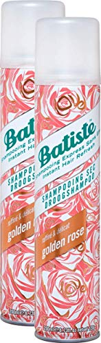 Batiste Trockenshampoo Dry Shampoo Raffiné & Délicat Rosé Gold, Frisches Haar für alle Haartypen, 2er Pack (2 x 200 ml)