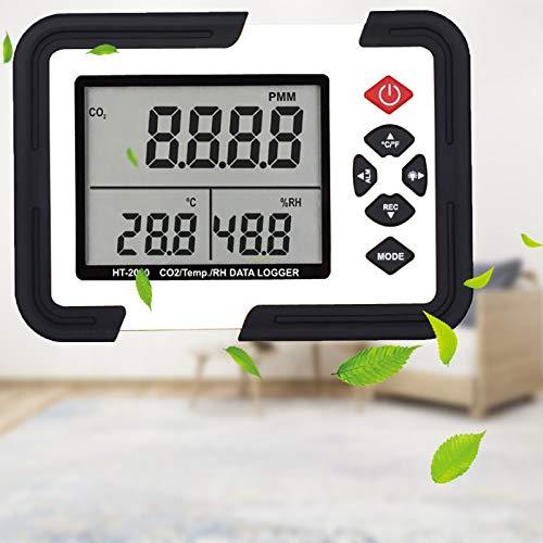LAYBAY Haushaltsluftdetektor, Co2 Melder Mit Thermometer Und Hygrometer Dient Zum Erkennen Von Gasen Im Innen- Und Außenbereich