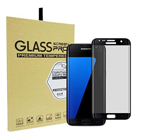 Galaxy S7 Edge Protector de Pantalla, LXIN® Premium Privacidad Anti-espía de la Pantalla de Cristal Templado Pantalla Completa Cobertura para Samsung Galaxy S7 Edge con Sin Burbujas (Negro)