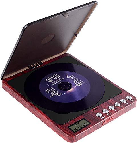 CCHKFEI Tragbarer CD Player, 2400mAh Persönlicher Wiederaufladbar MP3 CD Player Eingebauter Lautsprecher mit Doppelte 3.5mm Kopfhörern Buchse Disc Walkman mit stoßfester für Zuhause, Auto und Reisen