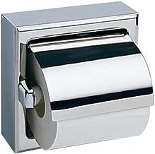 Bobrick 6699 Dispensador de Papel higiénico de un Solo Rollo de Acero Inoxidable con Capucha, Pulido Brillante, 6-3/16 Pul...