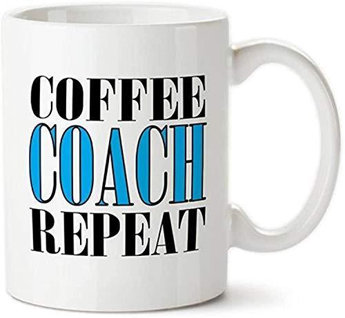 Kaffeetrainer wiederholen, Geschenk für Trainer, Basketballtrainer Geschenk, Fußballtrainer Geschenk, Baseballtrainer Geschenk, Fußball, Hockey, Tennis Geschenke für Trainer Tasse, Neuheit Tasse / Tas