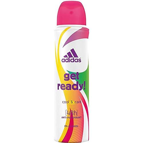 6* Adidas Deospray Deo Bodyspray Woman 150ml Get Ready 6 * 150ml