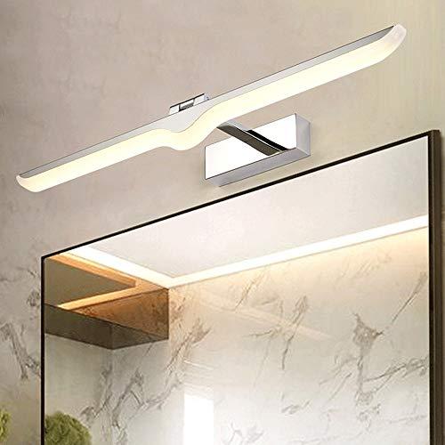 Siet LED-Eitelkeitspiegel-Leuchten, Rahmenbildlicht, Moderne minimalistische wasserdichte Spiegellampen für Badewanne, WC, Edelstahlbasis, warmweiß [Energieklasse A +] (Color : 9w 3000k)