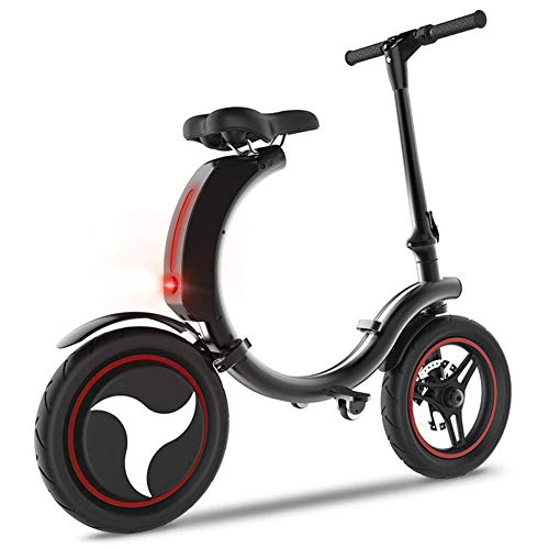 YLJYJ Electric Bike,Aluminum Alloy Frame Portable Folding Bicycle Battery Easy Folding and Carry Design Ultra Lightweight Scooter Outdoor Tra(Exercise Bikes)