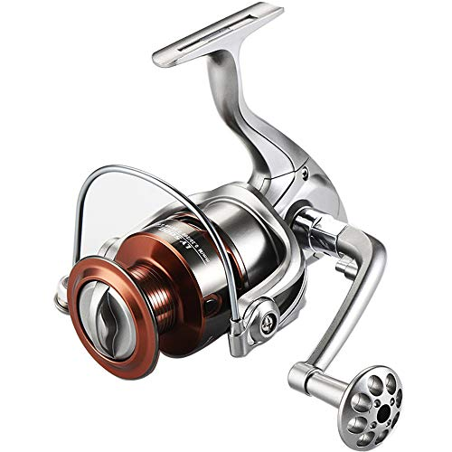 PAPUKA Fishing Reel,Pure Brass Bearing 13 +1BB Spinning Reel,5.2:1/5.1:1 Gear Ratio Super Smooth Baitcast Reel with Magnetic Braking System