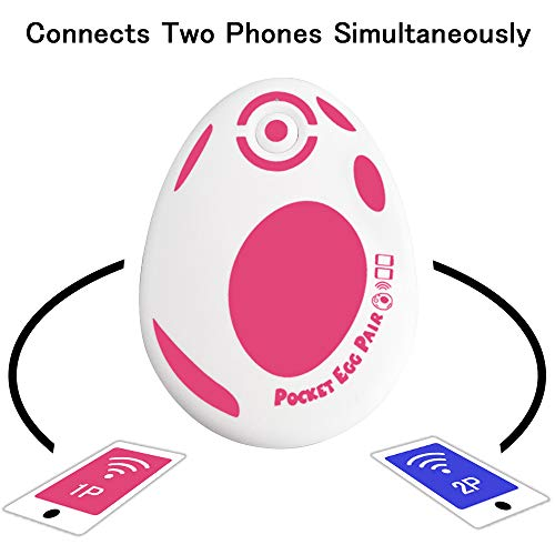 JZW-Shop Pocket Egg Pair, New Pocket Egg Auto Catch Pokemon Connects Two Phones Simultaneously for Pokemon Go Plus Accessory Compatible with iPhone and Android (Red)