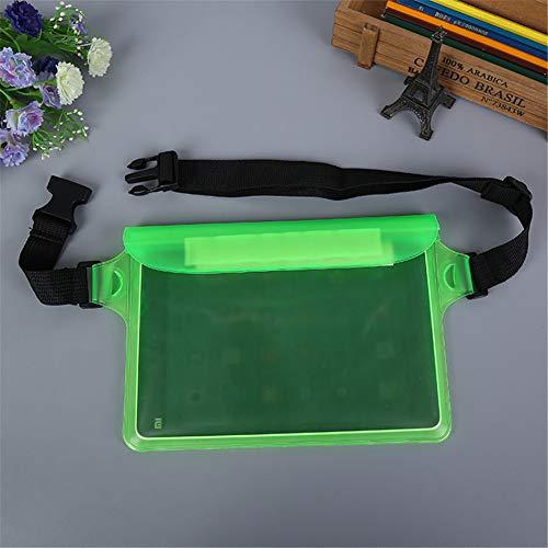 Aoile Outdoor Sports heuptas voor zwemmen, duiken, 3-laags, waterdicht verzegeld touchscreen, tas