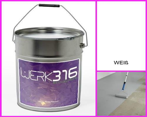6,75€/l - 20L Bodenbeschichtung Betonfarbe Bodenfarbe Bodenversiegelung Garagenfarbe Reinweiss