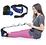 Lumia Wellness Foot and Leg Stretcher with Carry Bag and Massage Ball - for Plantar Fasciitis, Achilles Tendinitis, Yoga Foot Leg Ankle Stretch Strap, Multi-Loop Stretching