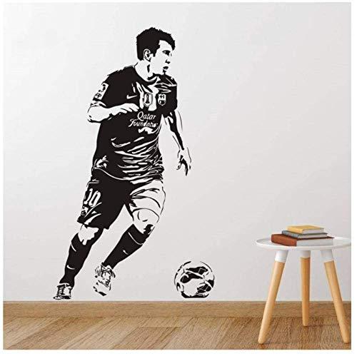 Lionel Messi Wall Sticker Famous Footballer Decalcomania Del Vinile Sport Star Poster Gym Shop Dorm Home Bedroom Interior Decor Mural55X93Cm