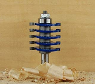Woodline USAs WL-1488-2 1 Piece V Groove Tongue and Groove Router Bit 1//2-Inch Shank