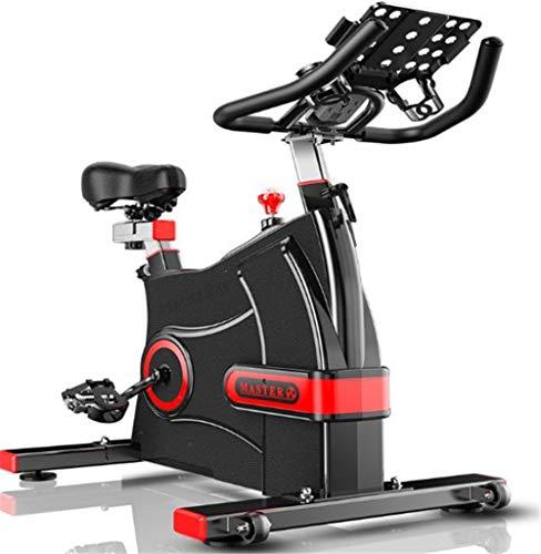 Lcyy-Bike Addestratori per Bicicletta Manuale Regolabile Resistenza 8 kg Volano Cardio Allenamento con Display Multifunzionale E Porta Tablet Manubrio Regolabile E Altezza Sedile