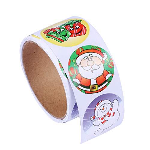 PIXNOR Rouleau de Stickers Autocollants pour Vacances Noël Anniversaire Décoration