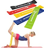 Resistance Bands Exercise Workout Loop Bands Booty Bands for Legs and Butt, Yoga,Home ,Fitness, Stretching,Physical Therapy, Pilates Flexbands, 12' x 2', Included Carry Bag and Instructions-Set of 5