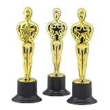 Toyvian 12 stücke Golden Award Trophäe Belohnung Preise für Party Feierlichkeiten Zeremonie Anerkennung Geschenk Sport Awards