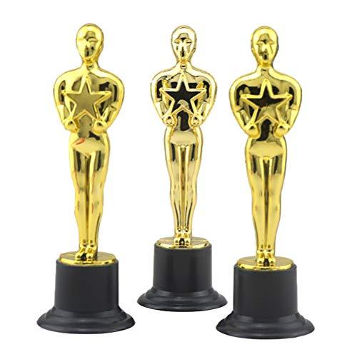 Toyvian Premios 12pcs Golden Award Trophy Rewards para Ceremonia de Celebraciones del Partido Regalo de Reconocimiento Premios Deportivos