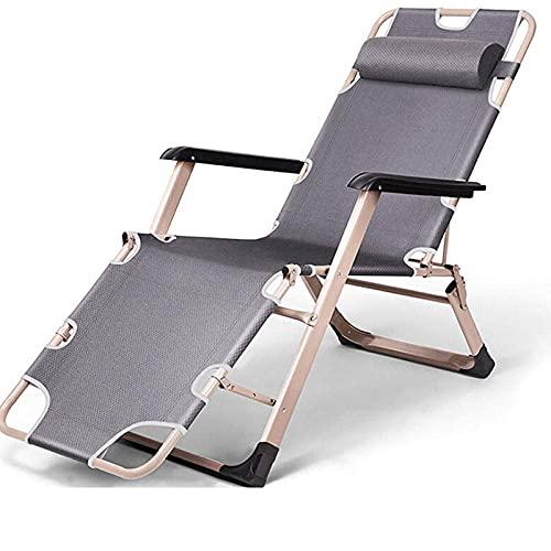 WGFGXQ Multi Position Lounger,Widened Square Tube Folding Recliner, Zero-Gravity Garden Chair, Ergonomic Recliner for Outdoor Balcony