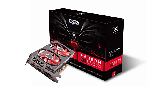 XFX RX 550 2GB DDR5 DD 1203MHz DP HDMI DVI PCI-Express 3.0 Graphics Card RX-550P2DFG5