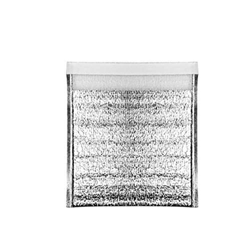Artículos de Cocina Bolsa de Aislamiento de Papel de Aluminio Bolsa de Almacenamiento de Alimentos Bolsa de Embalaje Bolsa de Aislamiento de Papel de Aluminio Grueso desechable - Plata-40X50