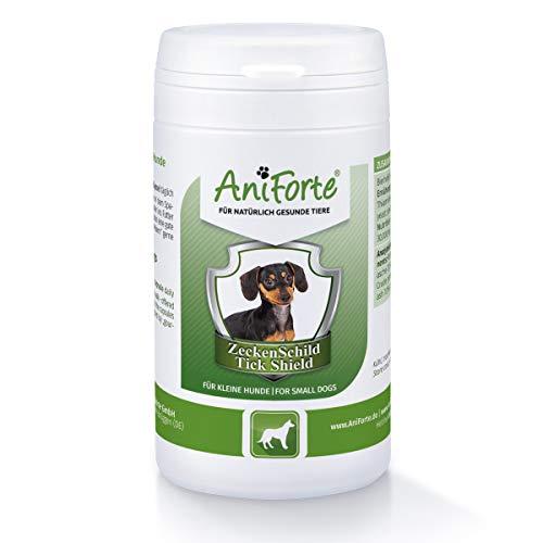 AniForte Zeckenschild für Hunde (klein bis 10 kg) 60 Kapseln - Effektive Formel und natürlicher Schutz, Ergänzungsfuttermittel für die natürliche Hautbarriere