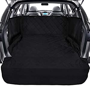 Ace Teah SUV Pet Cargo Liner, Nonslip Waterproof Dog Car Seat Cover with Side Flap Protector Bumper Flap, Universal Fit