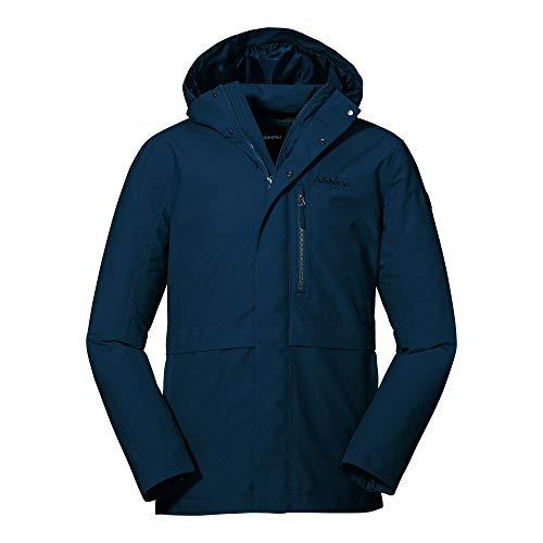 Schöffel Herren Jacket Eastleigh M, winddichte, atmungsaktive Regenjacke, urbane Outdoor Jacke, Wanderjacke mit abnehmbarer Kapuze