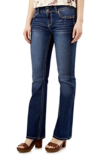 WallFlower Juniors Luscious Curvy Basic Bootcut Jeans in Addison Size:11