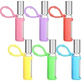 12 Pieces Silicone Roller Bottle Holder Sleeve Protective Roller Bottle Cover Case with Hanging Rope for Travel Carrying Essential Oil Perfume, 6 Colors (10 ml)