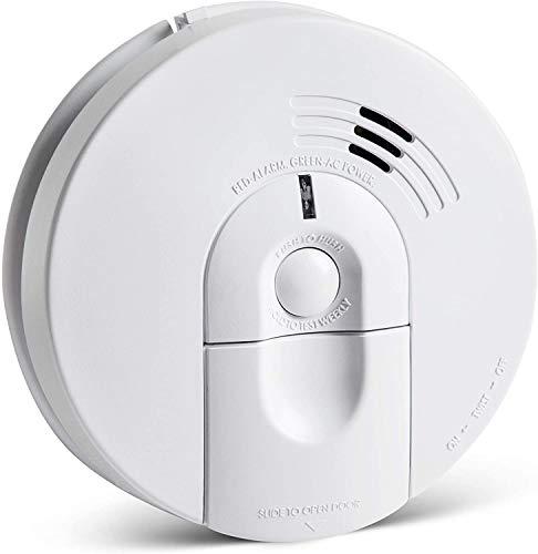 SecureGuard Dual 1080P HD Smoke Detector WiFi Spy Camera Wireless IP P2P Wi-Fi Mobile Covert Hidden Nanny Cam Spy Camera Gadget (Dual Camera Model, Camera 1: Side View, Camera 2: Down View,110V AC)