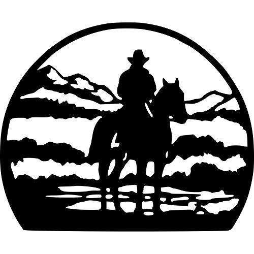 Bel adesivi 20 cm X 16cm Lone Horse Man Interessante Auto decorativo Auto decorativo Vetro Autoadesivo S6-2874 .Autoadesivo per auto (Color : BLACK)