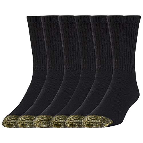 Gold Toe Men's Cotton Short Crew Athletic Sock MultiPairs, Black (6...