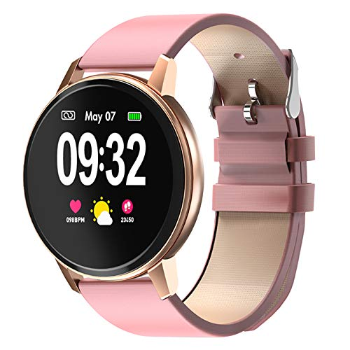 Smartwatch, BYTTRON Damen Bluetooth Uhr Fitness Armbanduhr Tracker Touch Screen IP68 Wasserdicht Smart Watch mit Pulsuhren Schlafmonitor Schrittzähler Wettervorhersage Sportuhr für Android iOS